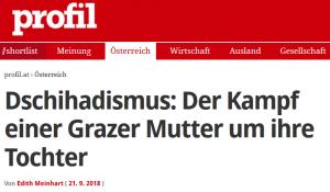 """Screenshot vom Profil Artikel """"Der Kampf einer Grazer Mutter um ihre Tochter"""""""