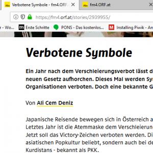 Screenshot von einem Fm4 Online Bericht.