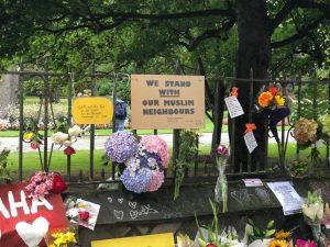 Trauerkundgebung für die Opfer von Christ Church