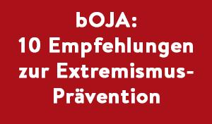 Empfehlungen zur Extremismusprävention