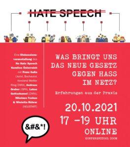 Veranstaltung zum Gesetzespaket gegen Hass im Netz
